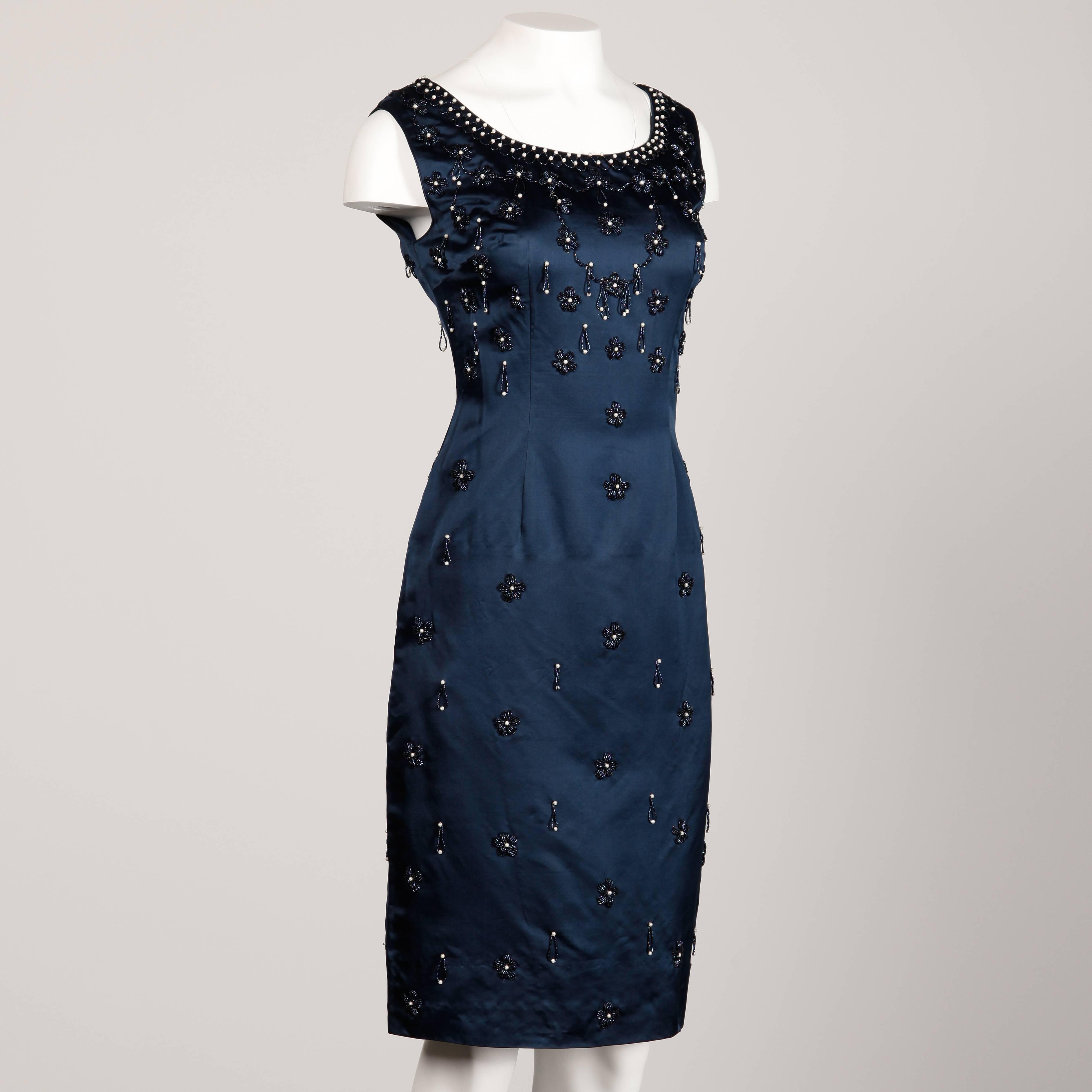 Satin Beaded Dress