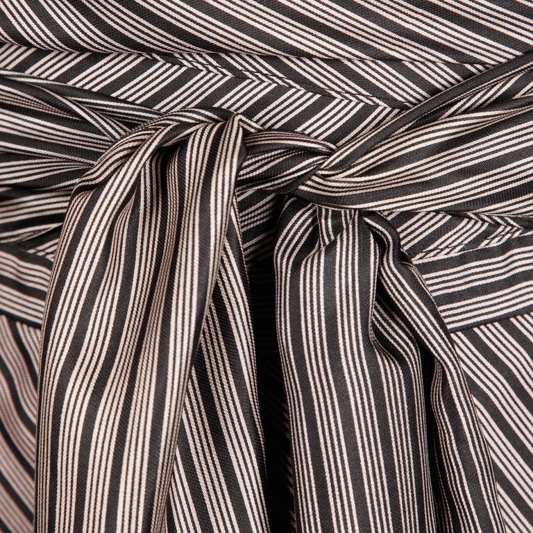Jean Patou 1970s Vintage Silk Striped Wrap Top + Maxi Skirt Dress Ensemble 6