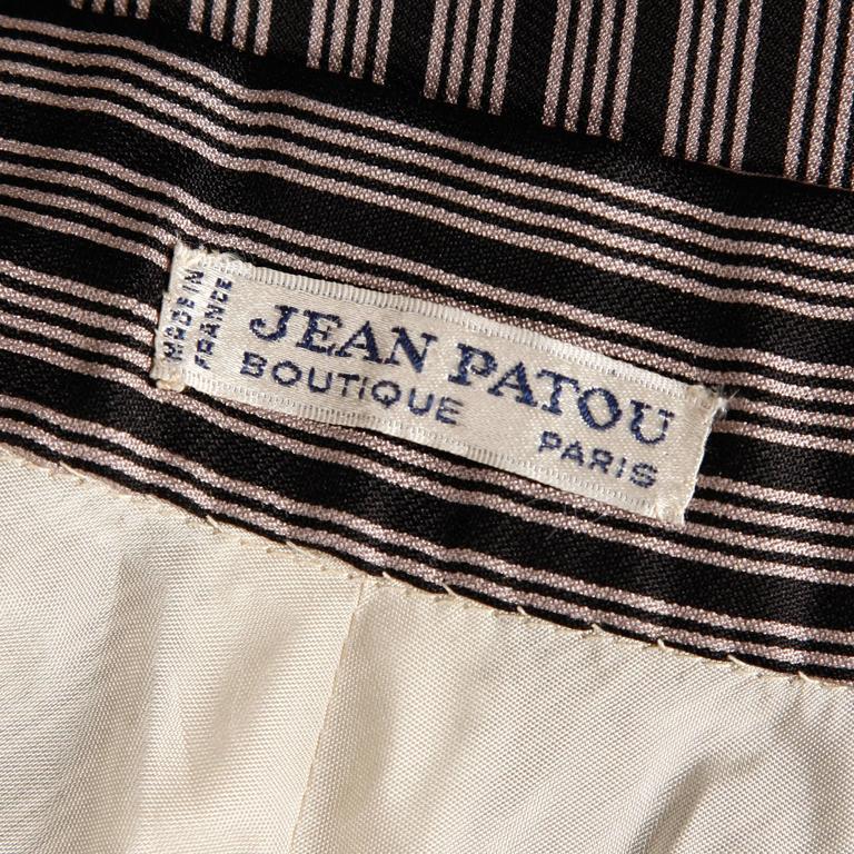 Jean Patou 1970s Vintage Silk Striped Wrap Top + Maxi Skirt Dress Ensemble 4