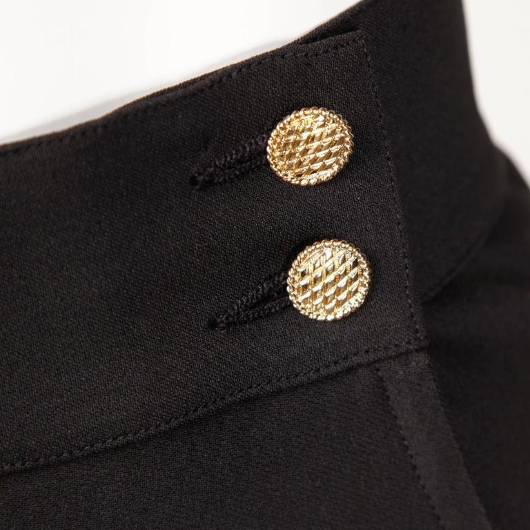Chanel Vintage Black Pleated Skirt 5