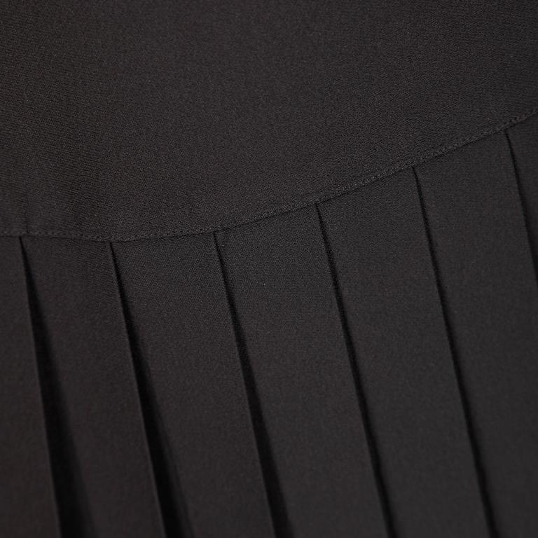 Chanel Vintage Black Pleated Skirt 7