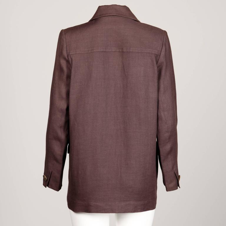 Black Yves Saint Laurent Vintage Safari Jacket For Sale