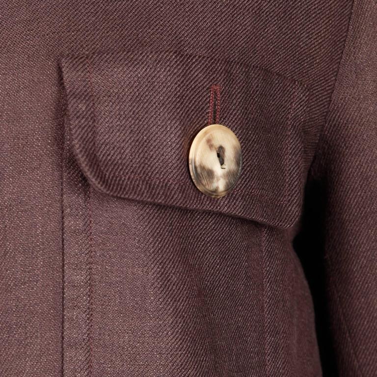 Yves Saint Laurent Vintage Safari Jacket In Excellent Condition For Sale In Sparks, NV