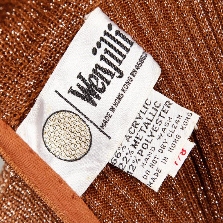 1970s Wenjilli Vintage Dress In Excellent Condition For Sale In Sparks, NV