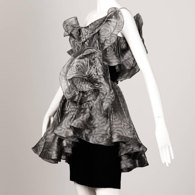 Black Bernard Perris Vintage Dress For Sale