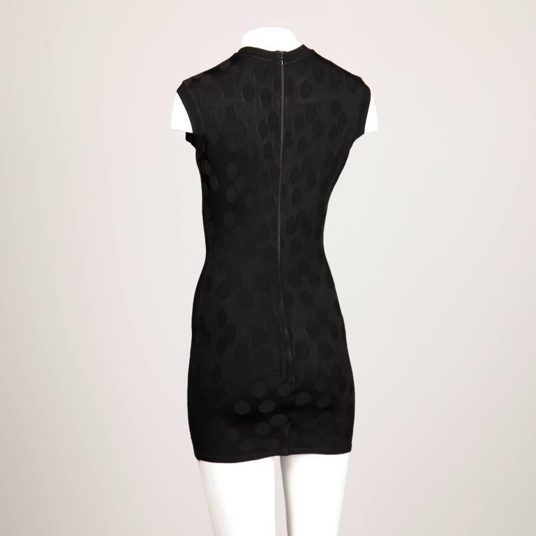 Alaia Vintage 1990s Black Polka Dot Dress For Sale 1