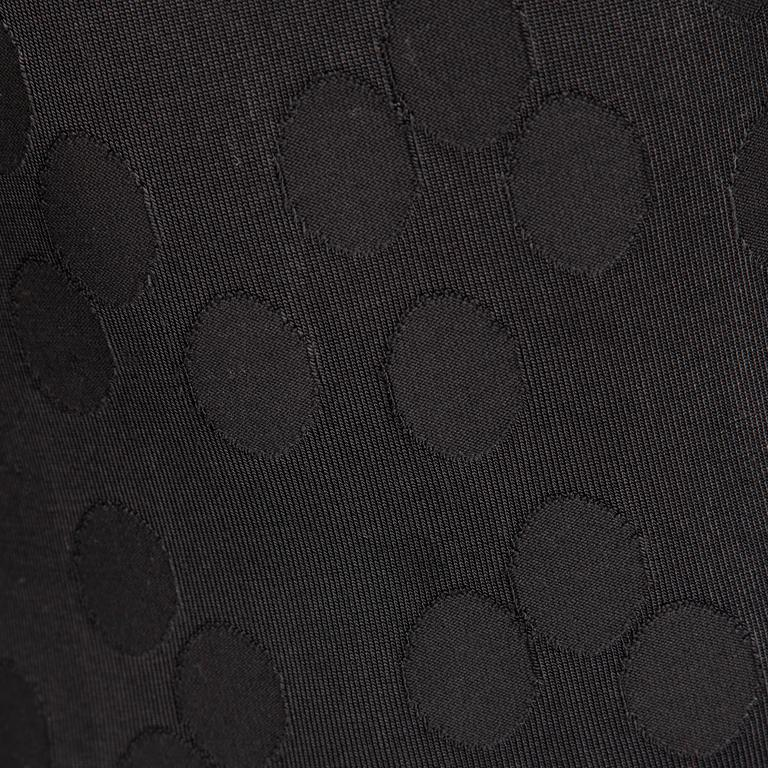 Alaia Vintage 1990s Black Polka Dot Dress For Sale 2