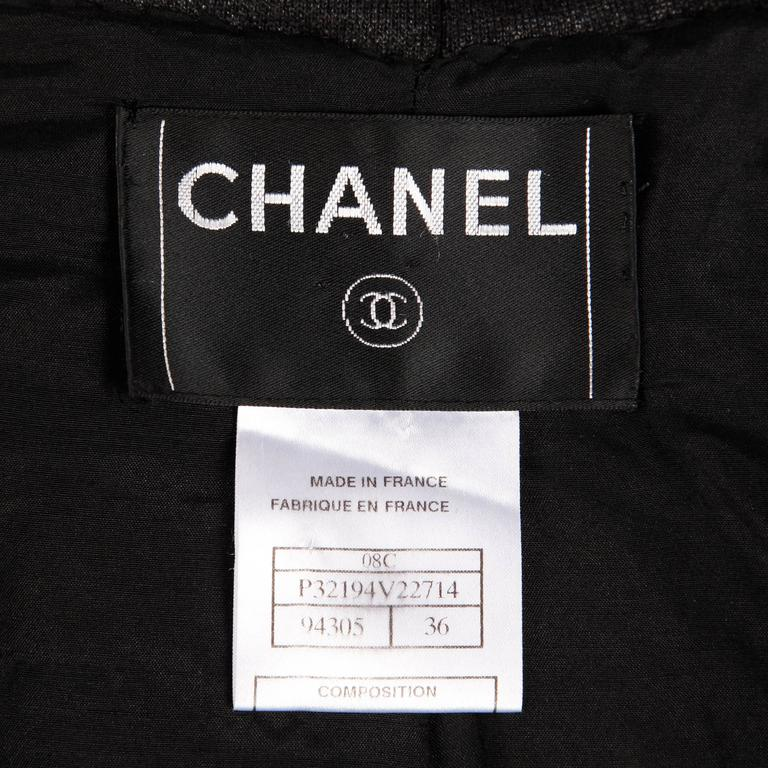 Chanel 2008 Convertible 2-in-1 Black Jacket + Coat with Airline Cruise Buttons In Excellent Condition For Sale In Sparks, NV