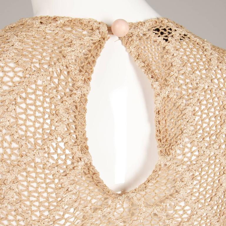 1970s Betsey Johnson Attributed Paraphernalia Crochet Mini Dress or Tunic 7