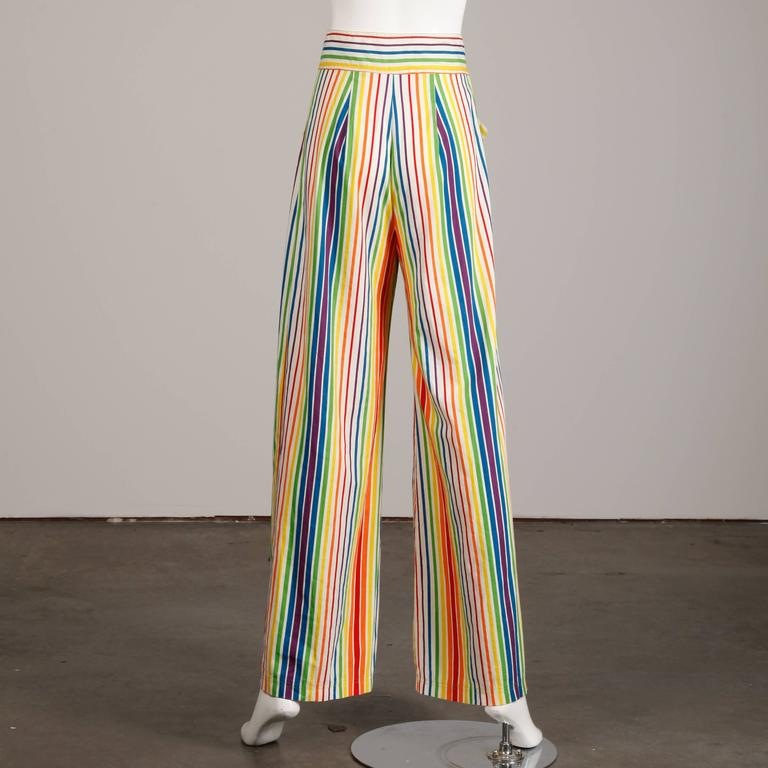 Epic 1970s Betsey Johnson For Alley Cat Vintage Rainbow