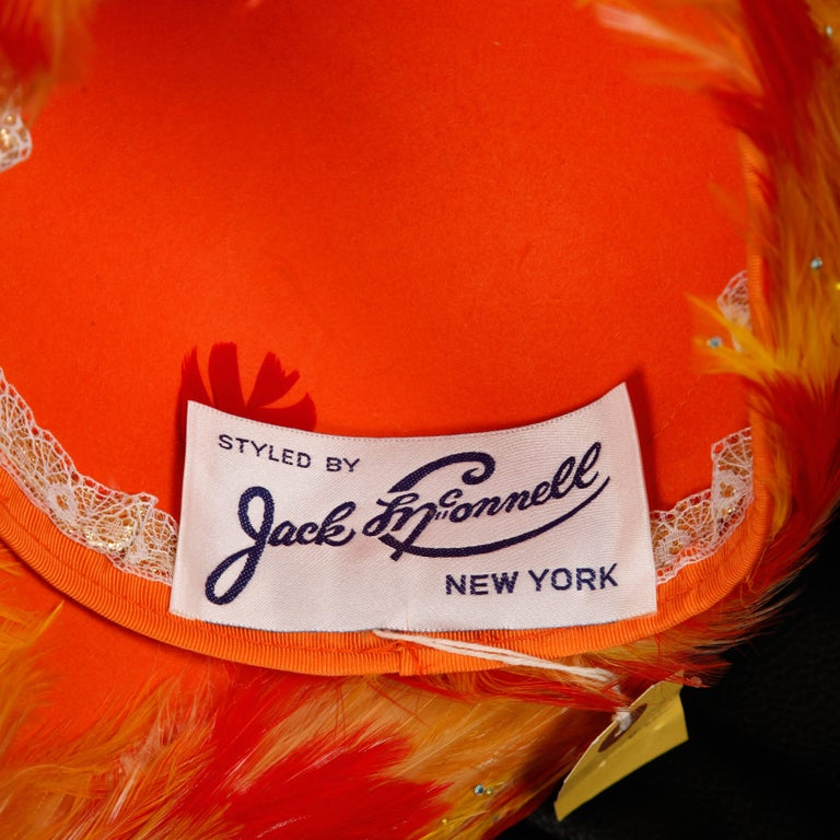 Incredible vintage Jack McConnell hat in unworn condition! This is a deadstock piece that came from the stock of an old hat store located in Southern California. We have access to the entire inventory of over 3000 unworn hats. Bright yellow and