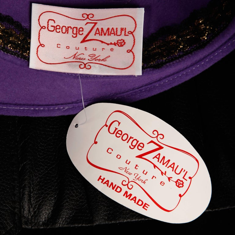 Unworn with the original tags still attached! This is a deadstock piece that came from the stock of an old hat store located in Southern California. We have access to the entire inventory of over 3000 unworn vintage hats. By George Zamau'l..