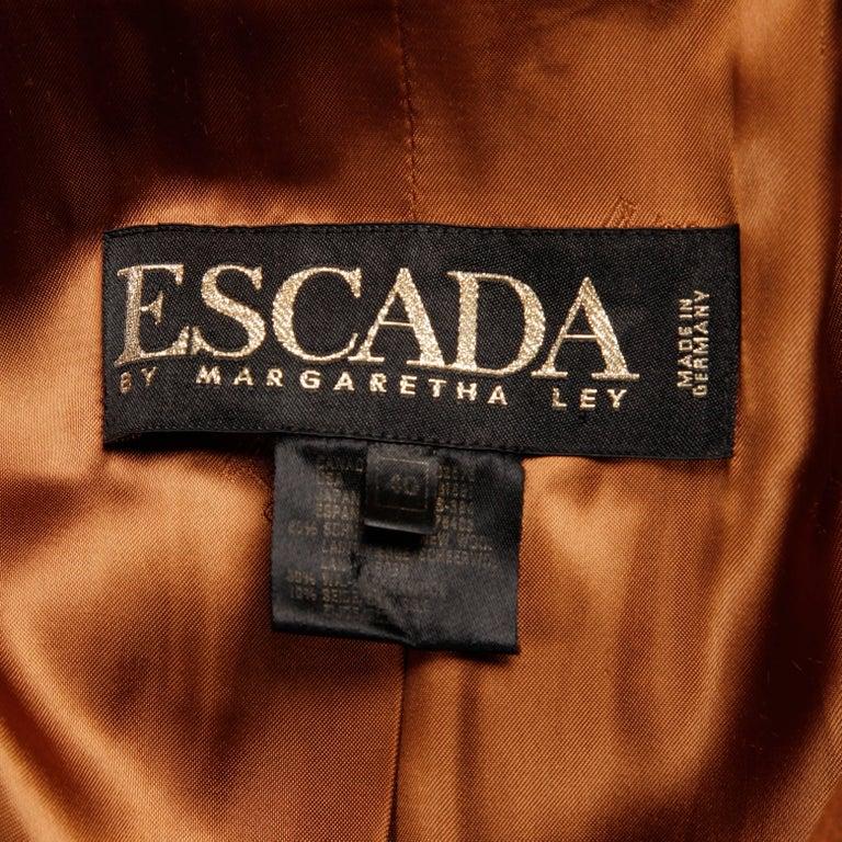 Vintage Escada By Margaretha Ley Camel Wool Silk