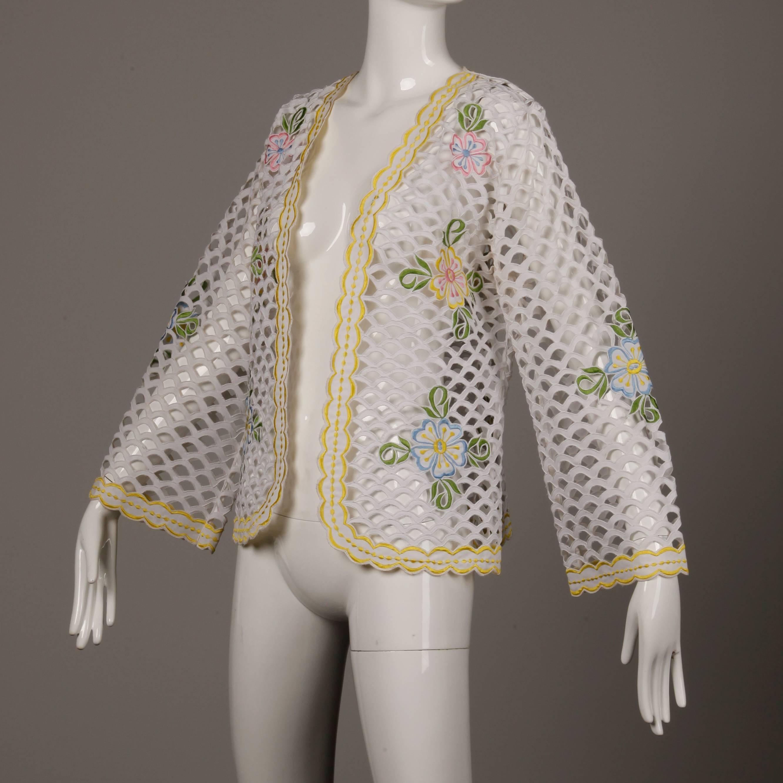 hand embroidered vintage gray workwear jacket 87Pnk6