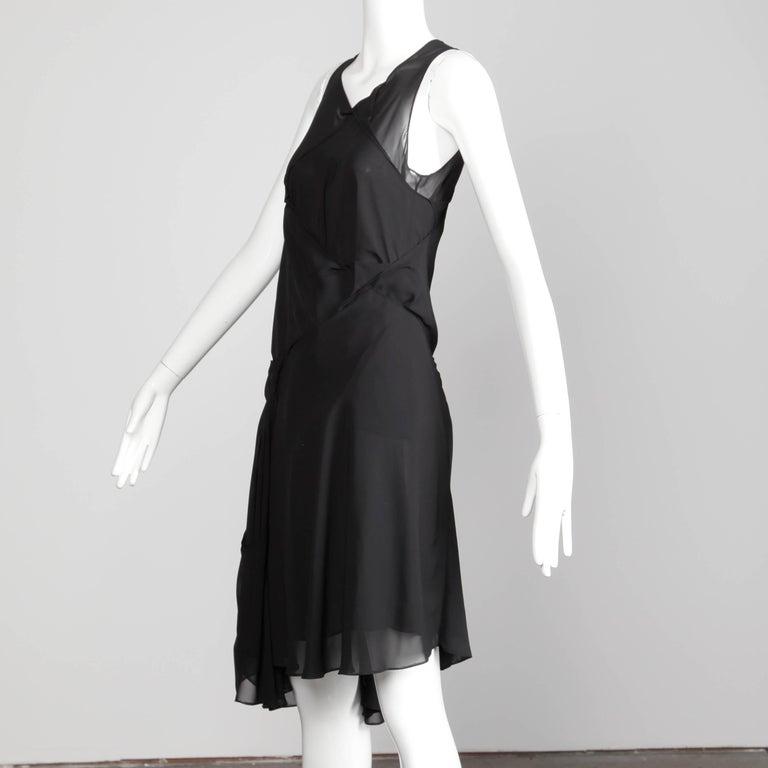 Women's Junya Watanabe Comme des Garcons Avant Garde Black Draped Asymmetric Dress For Sale