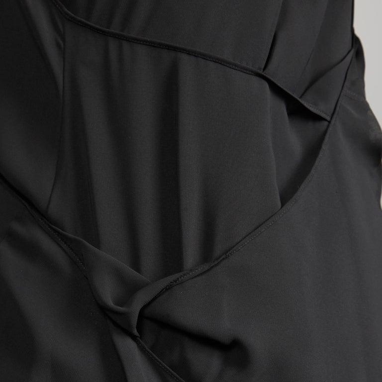 Junya Watanabe Comme des Garcons Avant Garde Black Draped Asymmetric Dress For Sale 5