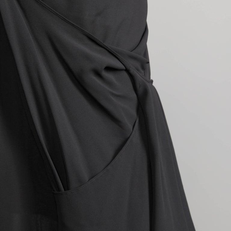 Junya Watanabe Comme des Garcons Avant Garde Black Draped Asymmetric Dress For Sale 4