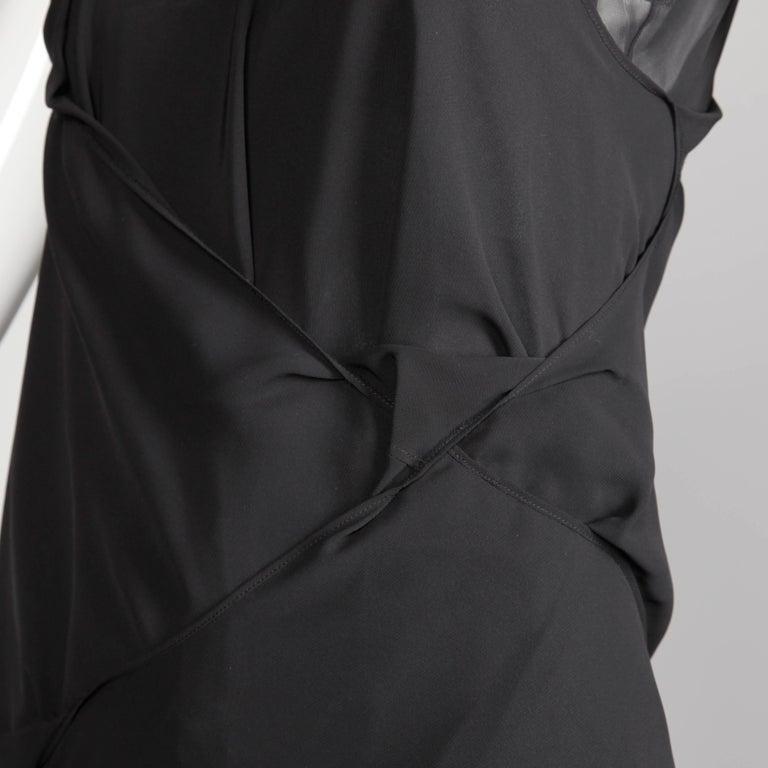 Junya Watanabe Comme des Garcons Avant Garde Black Draped Asymmetric Dress For Sale 3