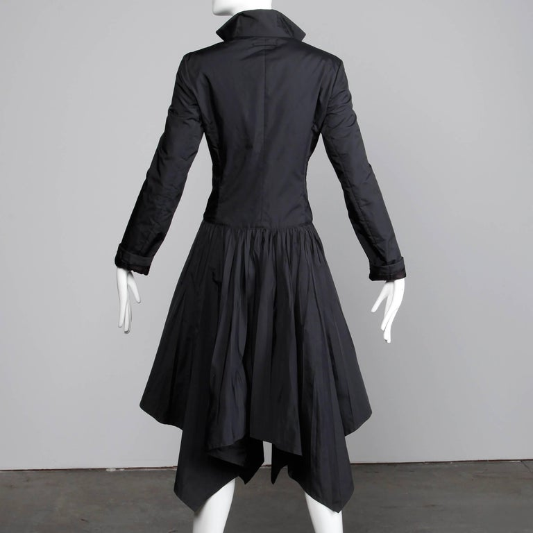 Jean Paul Gaultier Vintage Black Avant Garde Steampunk Coat or Dress, 1990s  In Excellent Condition For Sale In Sparks, NV
