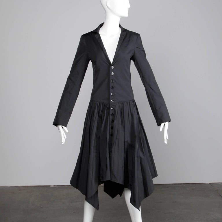 Jean Paul Gaultier Vintage Black Avant Garde Steampunk Coat or Dress, 1990s  For Sale 1