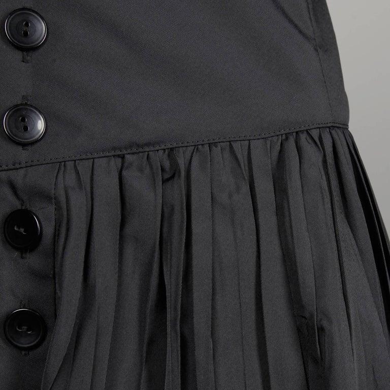 Women's Jean Paul Gaultier Vintage Black Avant Garde Steampunk Coat or Dress, 1990s  For Sale