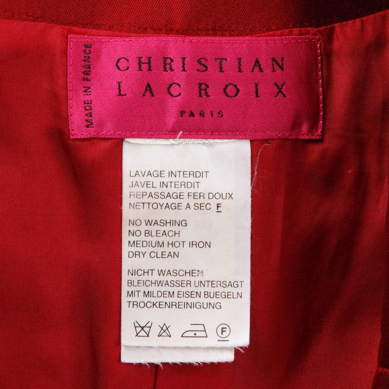 Incredible vintage metallic red jacket by Christian Lacroix with a unique