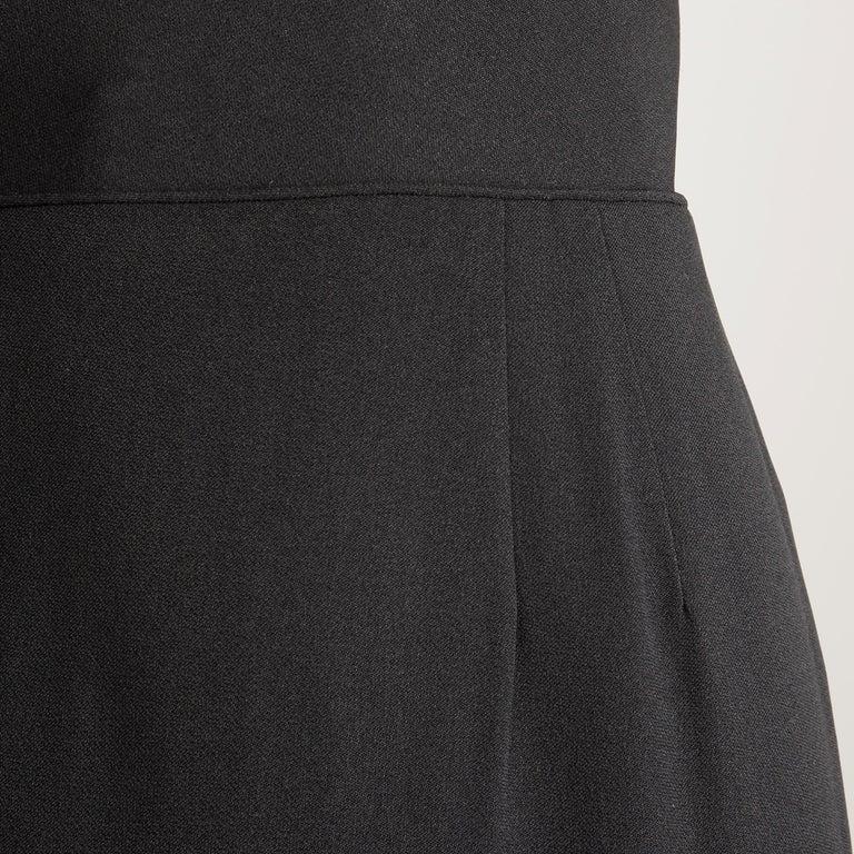 1950s Dorothy O'Hara Vintage Black Asymmetric Cocktail Sheath Dress  For Sale 3