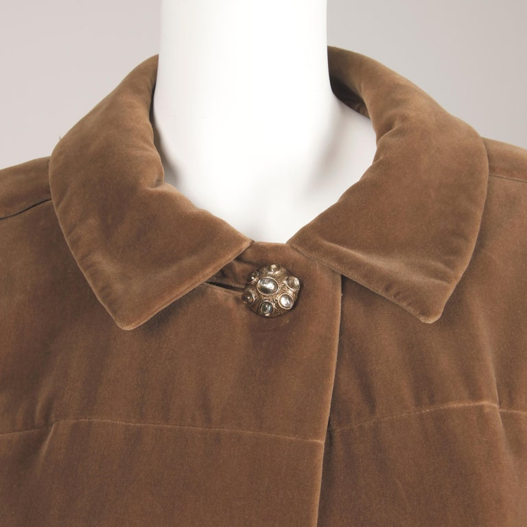 1960s Charles Cooper for Nan Duskin Vintage Brown Velvet Military Mod Coat For Sale 4