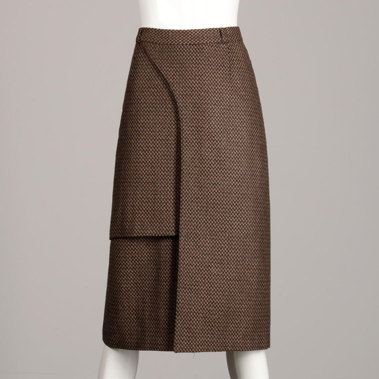 Black Philippe Dalma Paris Vintage Avant Garde Pencil Skirt- 1980s France For Sale