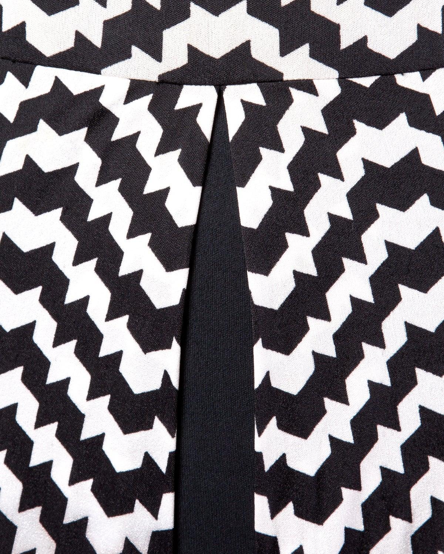 La Mendola Vintage 1970s 70s Custom Couture Graphic Black + White Op Art Dress 6