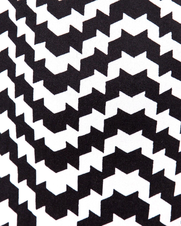 La Mendola Vintage 1970s 70s Custom Couture Graphic Black + White Op Art Dress 7