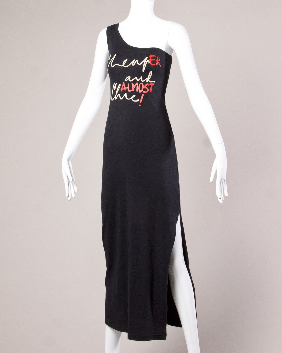 "Unworn Moschino Vintage ""CheapEr and ALMOST Chic!"" Maxi Dress 2"