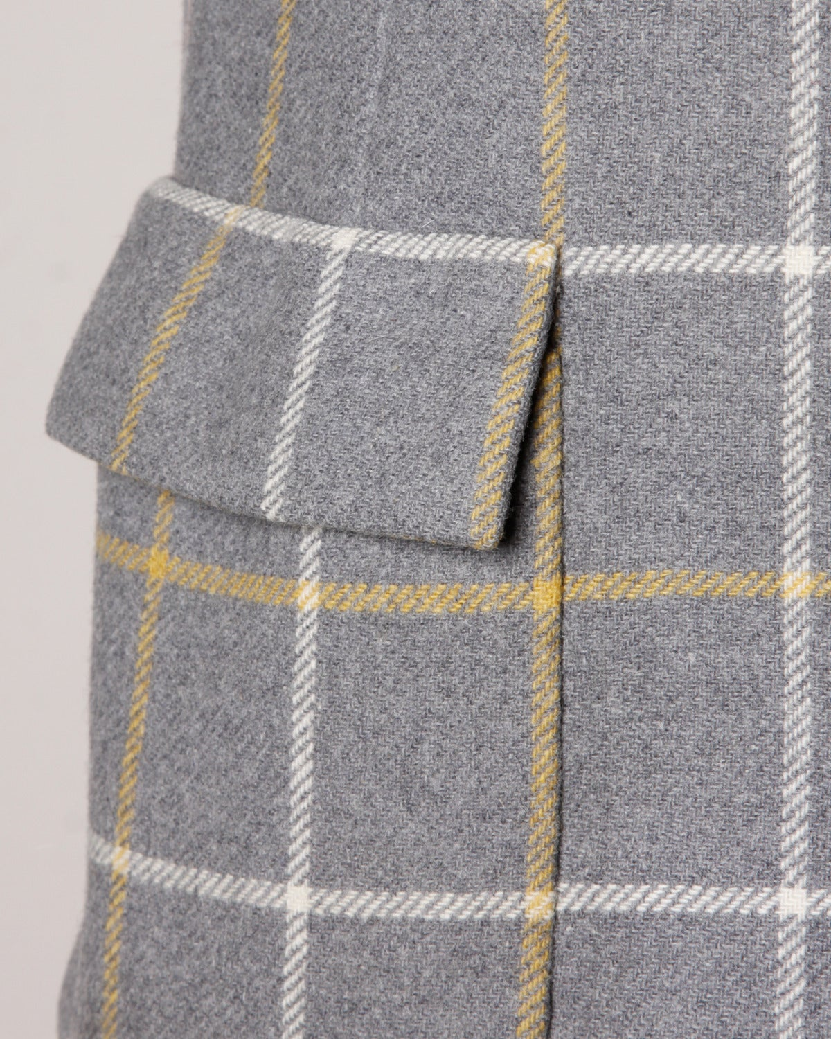 Christian Dior Vintage 1960s Wool Plaid Tailored Jacket In Excellent Condition For Sale In Sparks, NV