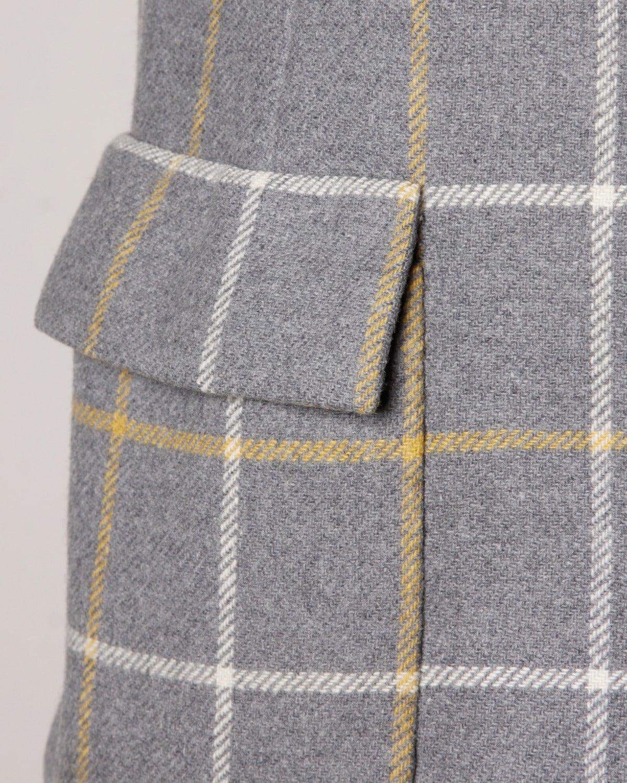 Christian Dior Vintage 1960s Wool Plaid Tailored Jacket 4