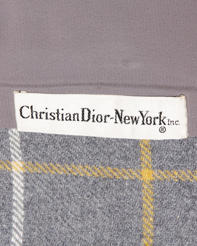 Christian Dior Vintage 1960s Wool Plaid Tailored Jacket 5