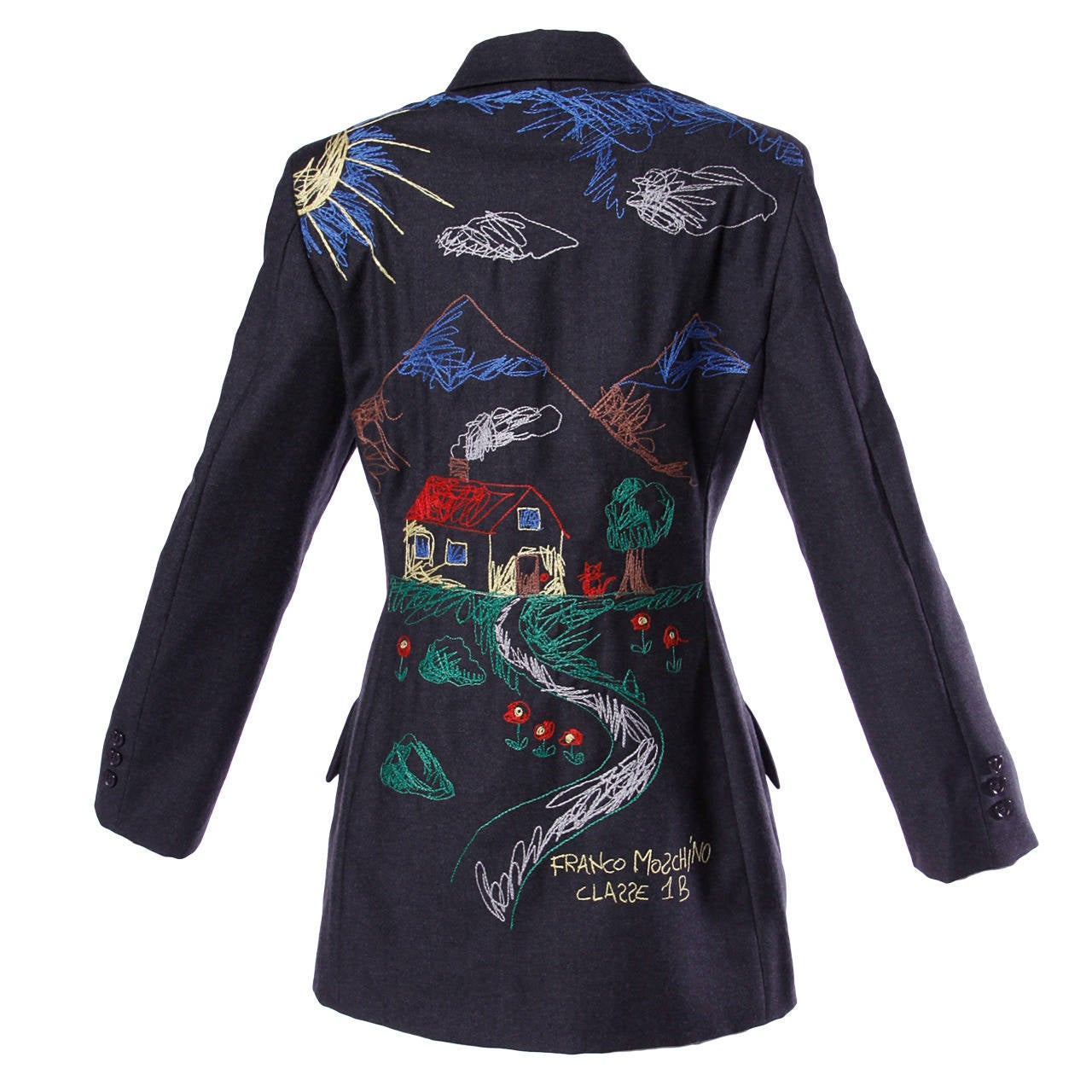 Signed franco moschino vintage s embroidered