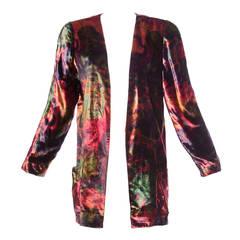 Krizia Vintage Colorful Velvet Cardigan or Jacket