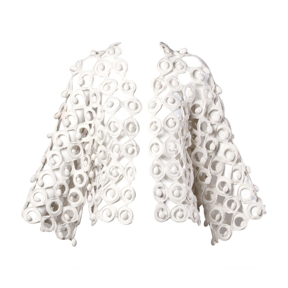 Incredible Moschino Vintage 1990s 3-D Macrame Linked Ring Jacket