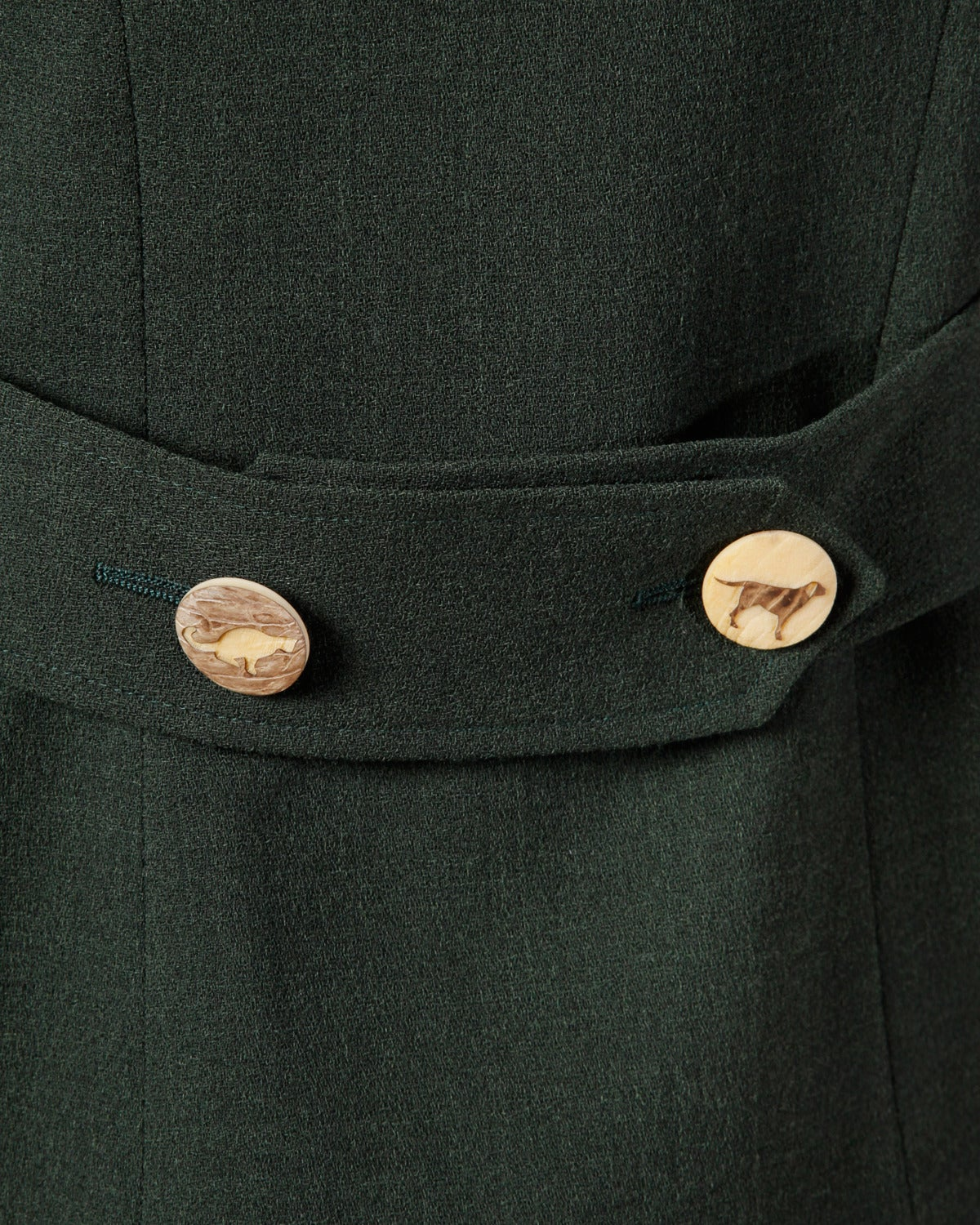 "Moschino Vintage ""Full Nature Jacket"" Skirt Suit with Carved Animal Buttons 7"