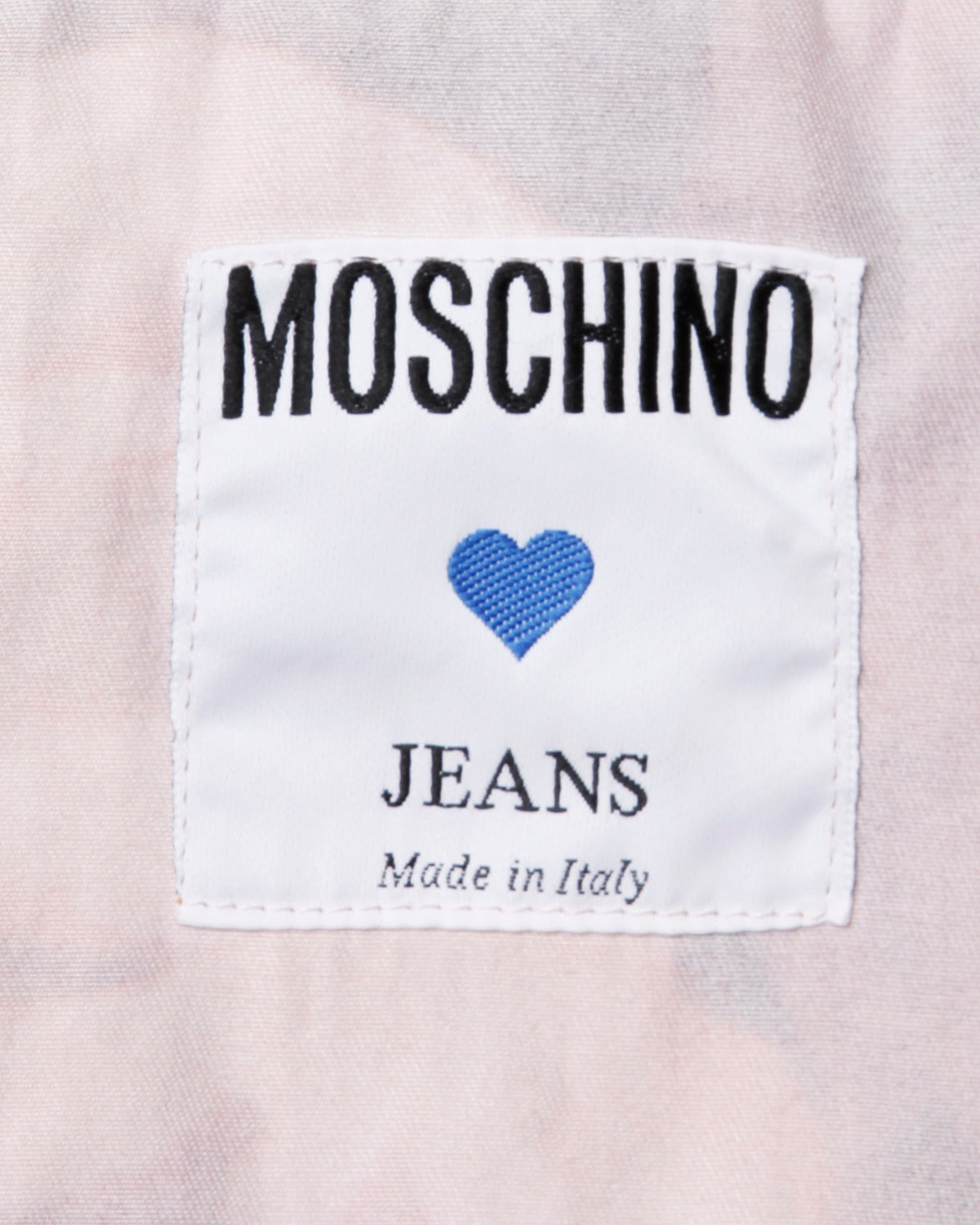 Moschino Jeans Vintage Floral Photo Print Denim Jacket, 1990s  For Sale 3