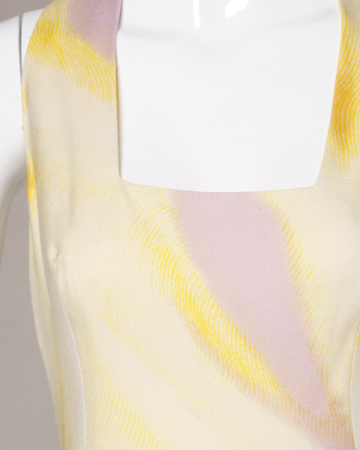 Beige Gianni Versace Couture Vintage 1990s Ombre Pastel Silk Sheath Dress For Sale