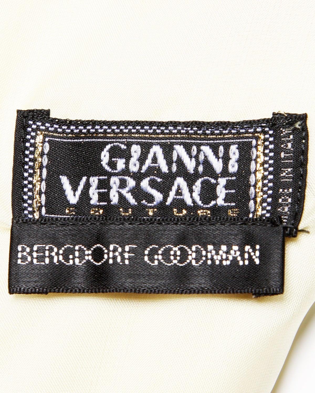 Gianni Versace Couture Vintage 1990s Ombre Pastel Silk Sheath Dress 6