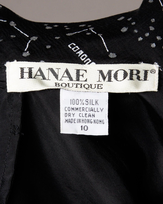 "Hanae Mori Vintage ""Constellation + Stars Map"" Silk Chiffon Gown 8"