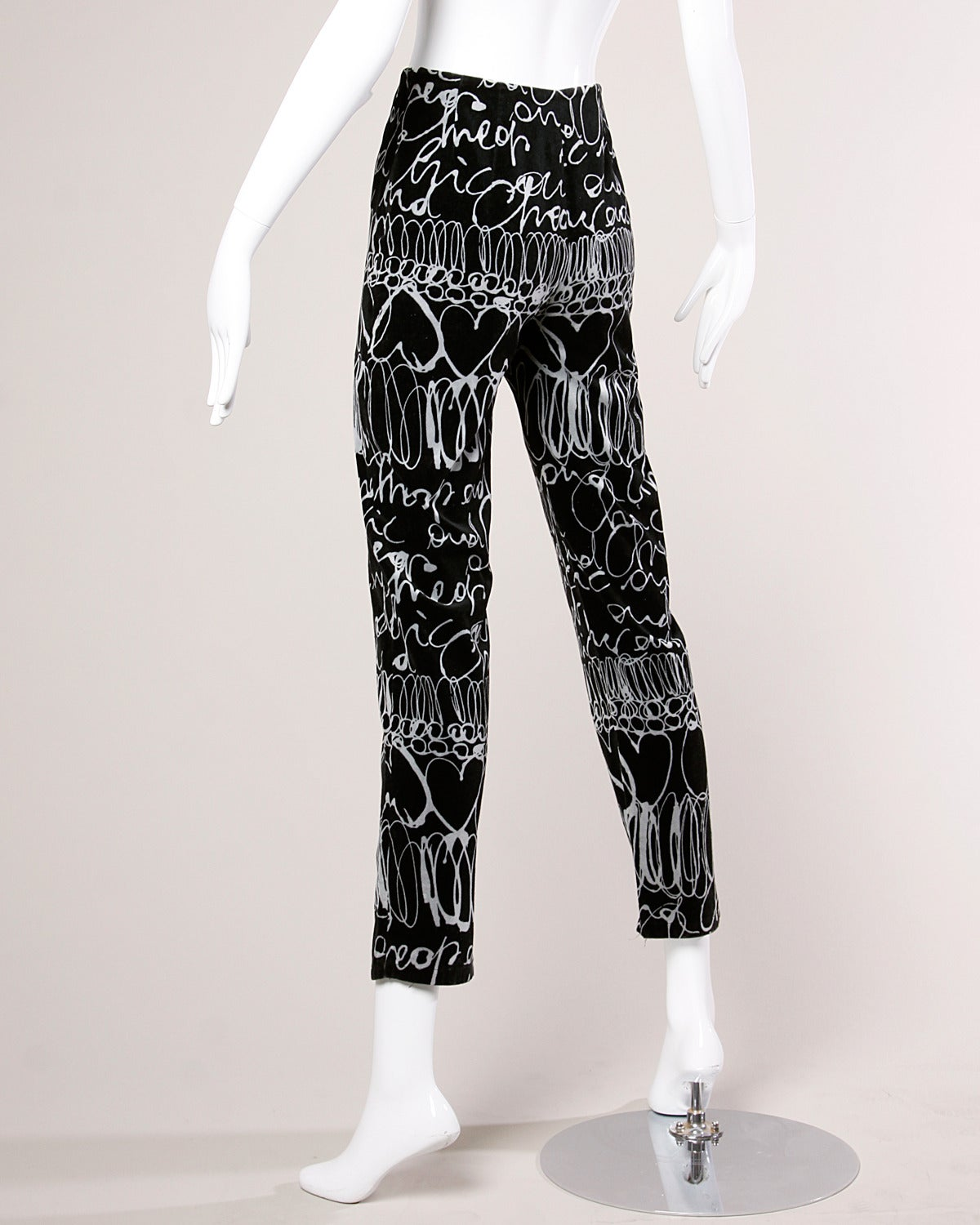 Vintage soft velour pants with a