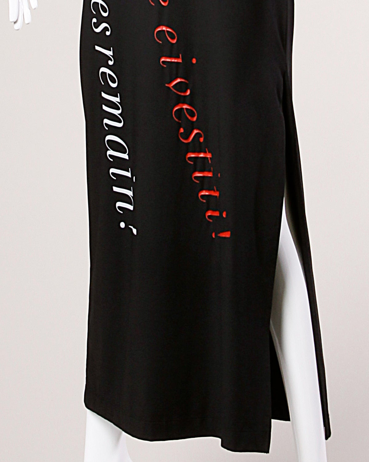 "Moschino Vintage 1990s 90s ""Fashion is No More..."" Maxi Dress 4"