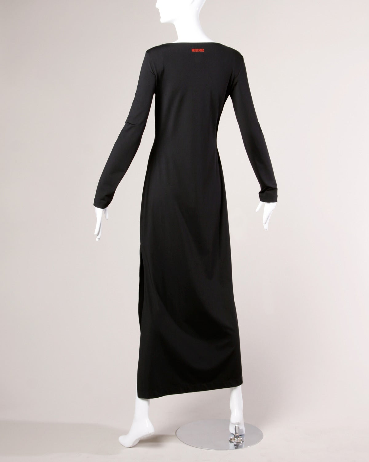 """Women's Moschino Vintage 1990s 90s """"Fashion is No More..."""" Maxi Dress For Sale"""