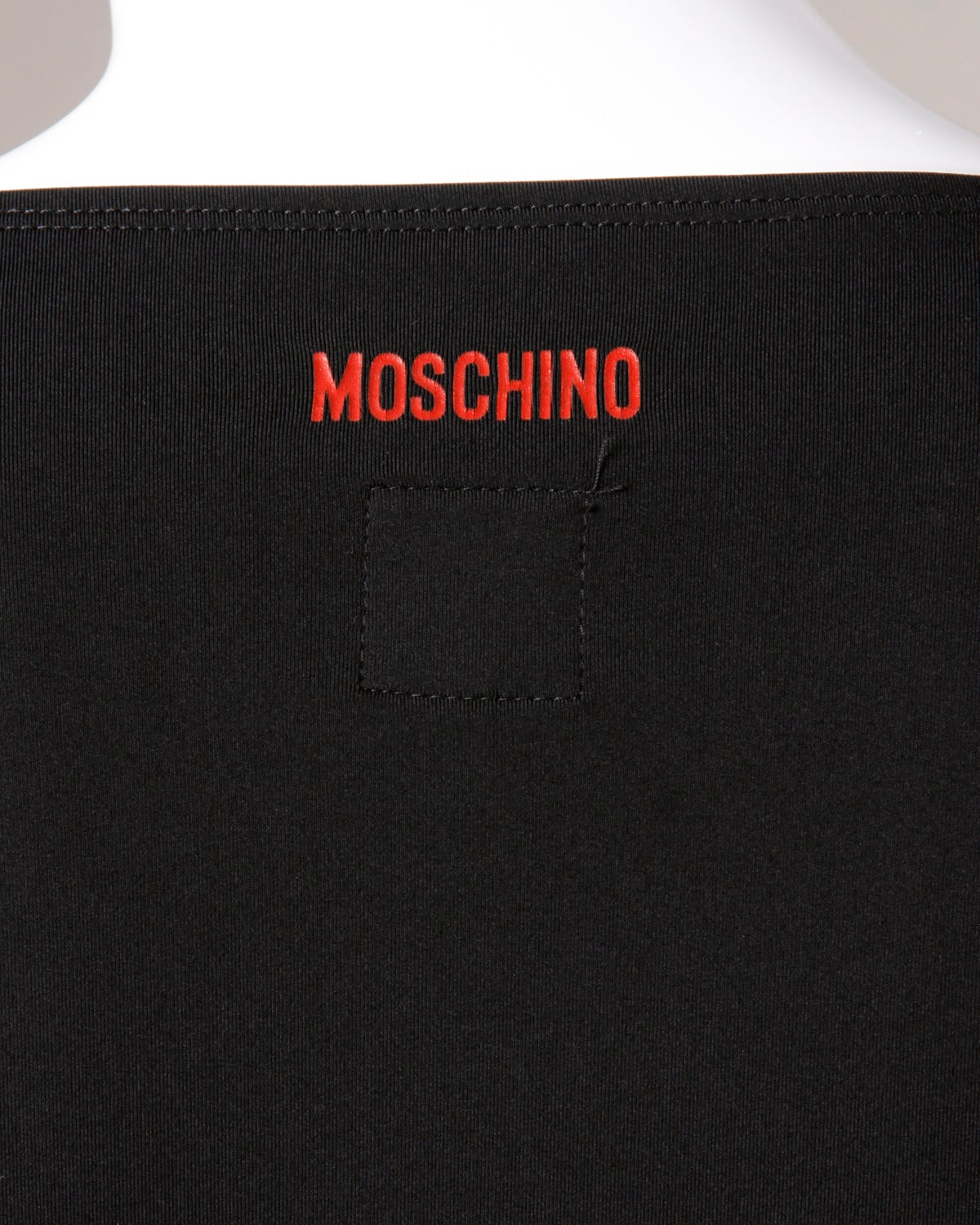 "Moschino Vintage 1990s 90s ""Fashion is No More..."" Maxi Dress 6"