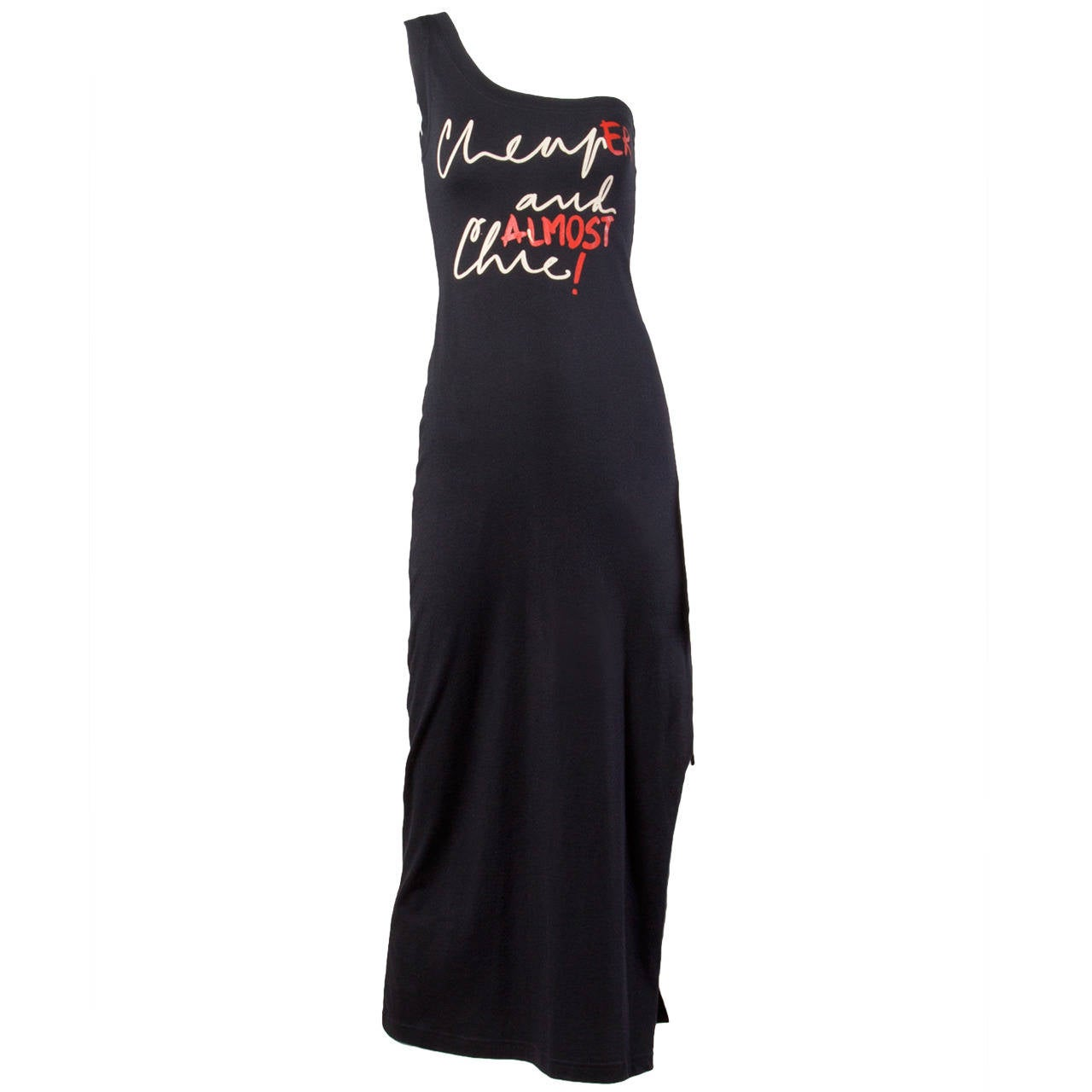 "Unworn Moschino Vintage ""CheapEr and ALMOST Chic!"" Maxi Dress 1"