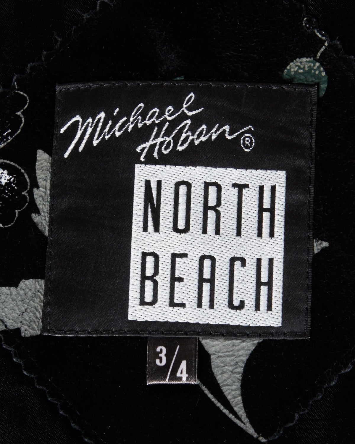 Michael Hoban for North Beach Leather Vintage Black Floral Jacket For Sale 4