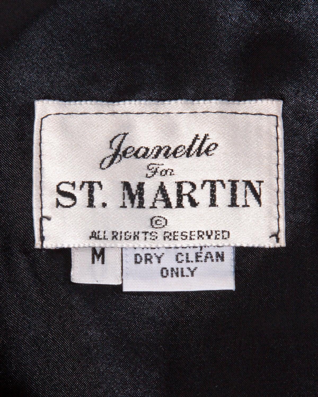 Jeanette Kastenberg Vintage Black Sequin Shift Dress with Metallic Gold Bows For Sale 2